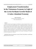 Employment transformation in the Vietnamese economy in light of the lewis-fei-ranis growth model of a labor-abundant economy