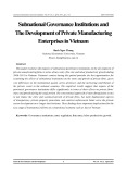Subnational governance institutions and the development of private manufacturing enterprises in Vietnam
