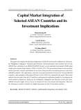 Capital market integration of selected ASEAN countries and its investment implications