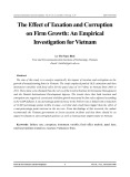 The effect of taxation and corruption on firm growth: An empirical investigation for Vietnam