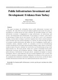 Public infrastructure investment and development: Evidence from turkey