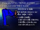 Bài giảng Phương thức chương trình và quá trình đào tạo của giáo dục đại học Việt Nam