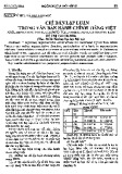 Chỉ dẫn lập luận trong văn bản hành chính Tiếng Việt
