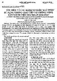Tìm hiểu về các hành vi ngôn ngữ được sử dụng trong giao tiếp vợ chồng nông dân người Việt giai đoạn 1930-1945