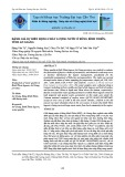 Đánh giá sự biến động chất lượng nước ở búng Bình Thiên, tỉnh An Giang