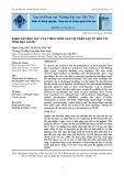 Khảo sát độc lực của virus viêm gan vịt phân lập từ đàn vịt tỉnh Hậu Giang