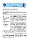Khảo sát thời gian lưu nước của bể MBBR để xử lý nước thải sản xuất mía đường