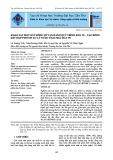 Khảo sát một số thông số vận hành quy trình keo tụ - Tạo bông kết hợp fenton xử lý nước thải nhà máy in