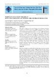 Nghiên cứu xử lý nước thải dân cư bằng công nghệ màng lọc sinh học MBR (membrane bioreactor)