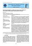 Rủi ro thanh khoản và định giá tài sản: Bằng chứng từ thị trường chứng khoán Thành phố Hồ Chí Minh
