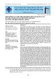 Ảnh hưởng của xâm nhập mặn đến công tác quản lý và sử dụng nguồn tài nguyên nước dưới đất tại vùng ven biển tỉnh Sóc Trăng