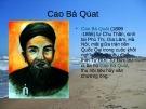 Bài giảng Ngữ văn lớp 12 - Bài: Tác giả Cao Bá Quát