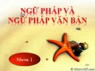 Bài giảng Tiếng Việt tiểu học - Bài: Cụm danh từ