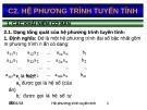 Bài giảng Toán kinh tế - Chương 2: Hệ phương trình tuyến tính