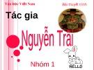 Bài giảng Ngữ văn lớp 12 - Bài: Tác gia Nguyễn Trãi
