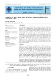 Nghiên cứu hoạt động khai thác của nghề lưới rê hỗn hợp ở tỉnh Trà Vinh