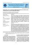 Nhận thức của các doanh nghiệp kinh doanh lưu trú du lịch ở thành phố Cần Thơ về biến đổi khí hậu