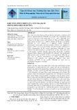 Khả năng phát triển của tảo Chlorella SP. trong điều kiện dị dưỡng