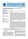 Sinh trưởng và phát triển của cỏ VA06 và Ghine TD58 tại huyện Eakar, tỉnh Đắk Lắk