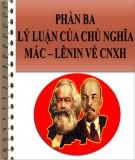 Bài thuyết trình: Lý luận của chủ nghĩa Mác – Lênin về Chủ nghĩa Xã hội