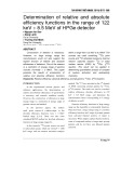 Determination of relative and absolute efficiency functions in the range of 122 keV ÷ 8.5 MeV of HPGe detector