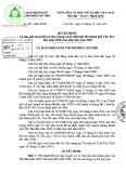 Quyết định số: 280/QĐ-UBND Cần Thơ - Phê duyệt Đồ án Quy hoạch