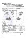 Đề thi kiểm tra vào lớp 6 năm 2018 môn Tiếng Anh - THCS Chu Văn An