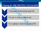 Bài giảng Tài chính quốc tế: Chương 2 - ĐH Thương mại