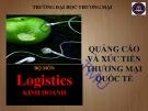 Bài giảng Quảng cáo và xúc tiến thương mại quốc tế: chương 1 – ĐH Thương mại