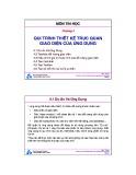 Bài giảng môn Tin học: Chương 4 - TS. Nguyễn Văn Hiệp