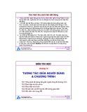 Bài giảng môn Tin học: Chương 10 - TS. Nguyễn Văn Hiệp