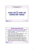 Bài giảng môn học Phân tích và thiết kế hướng đối tượng - TS. Nguyễn Văn Hiệp