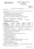 Đề kiểm tra 1 tiết môn Địa lí lớp 12 năm 2017-2018 - THPT Xuân Hòa - Mã đề 368
