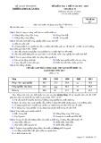 Đề kiểm tra 1 tiết môn Địa lí lớp 12 năm 2017-2018 - THPT Xuân Hòa - Mã đề 217
