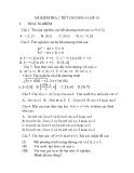 Đề kiểm tra 1 tiết Toán lớp 9 - Chương 4
