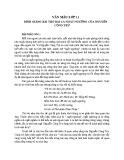 Bình giảng bài thơ Bài ca ngất ngưởng của Nguyễn Công Trứ