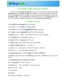 30 dạng viết lại câu cơ bản môn tiếng Anh