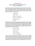 Phân tích đoạn 2 bài thơ Đàn ghi ta của Lor-ca - Thanh Thảo