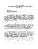 Giá trị nội dung và nghệ thuật trong Bài ca ngắn đi trên bãi cát của Cao Bá Quát