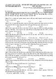 Đề thi thử THPT Quốc gia môn Hóa học năm 2017 - THPT Phú Bình - Mã đề 108