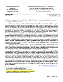 Đề thi thử THPT Quốc gia môn tiếng Anh năm 2018 lần 2 - THPT Chuyên Hà Tĩnh - Mã đề 845