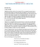 Phân tích bài thơ Tiếng hát con tàu của Chế Lan Viên