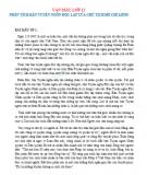 Phân tích bản Tuyên ngôn độc lập của Chủ tịch Hồ Chí Minh