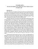 Nỗi ám ảnh không gian trong bài thơ Tràng Giang của Huy Cận