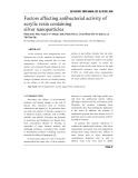 Factors affecting antibacterial activity of acrylic resin containing silver nanoparticles