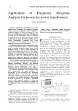 Application of frequency response analysis for in-service power transformers