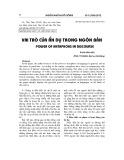 Vai trò của ẩn dụ trong ngôn bản