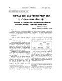 Thử xác định các tiêu chí nhận diện vị từ quá trình tiếng Việt