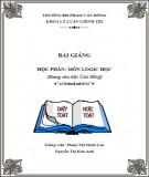 Bài giảng Logic học - ĐH Phạm Văn Đồng