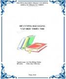 Bài giảng Văn học thiếu nhi - ĐH Phạm Văn Đồng